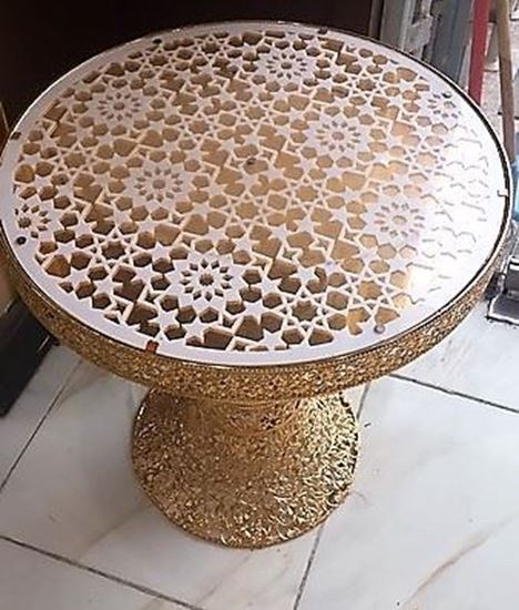 Picture of A Traditional Gold Round Table